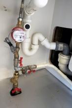 Установка счетчика горячей воды