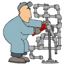 Нестандартная установка водосчетчиков